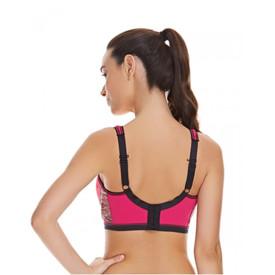 Podprsenka FREYA ACTIVE UW CROP TOP SPORTS BRA MOULDED INNER CHERRY GLOW