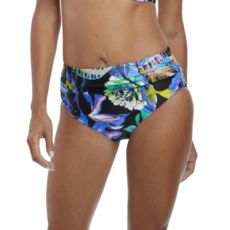 Plavky spodní díl Fantasie Swim Paradise Bay Deep Gathered Brief Aqua Multi