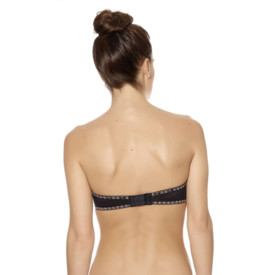 Podprsenka WACOAL FAITHFULLY YOURS STRAPLESS PUSH UP BLACK