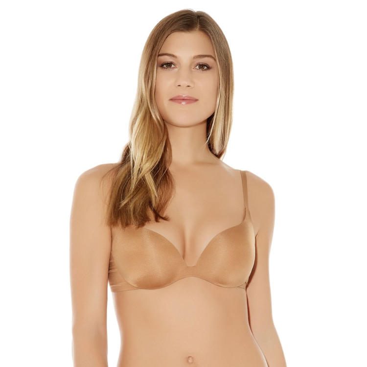Podprsenka WACOAL INTUITION PUSH UP CONTOUR TOASTED BEIGE