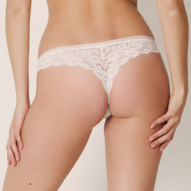 Kalhotky MARIE JO COLOR STUDIO LACE THONG NATURAL