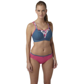 Podprsenka Panache Sports Bra Non-Wired Grey Floral