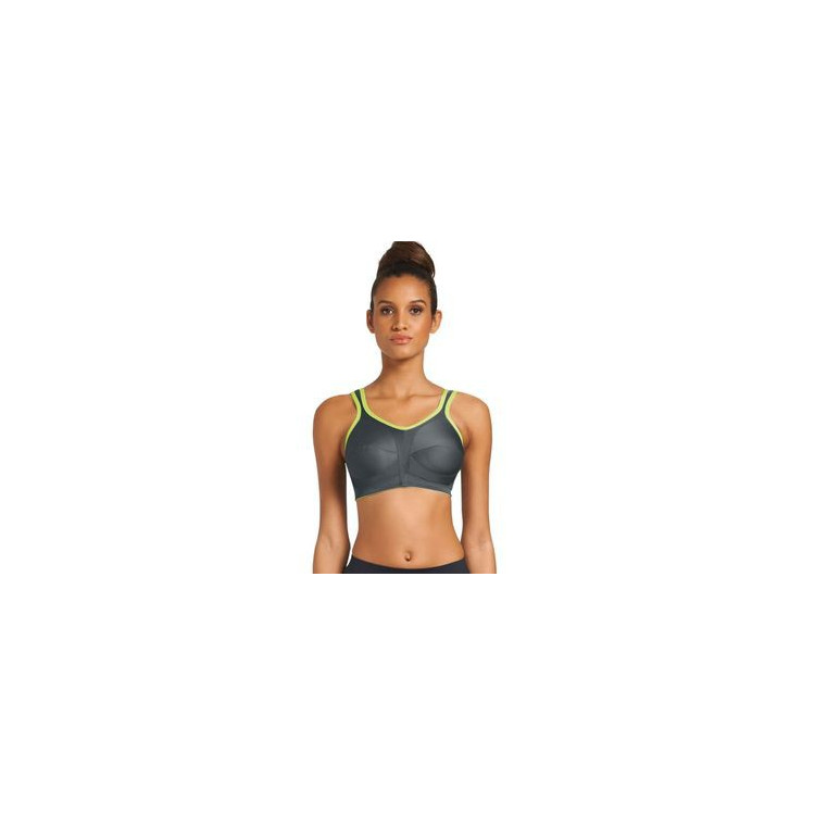 Podprsenka Freya Active Softcup Non-Wired Sports Bra Charcoal/Neon